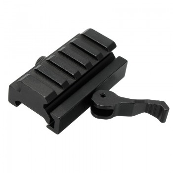 Quick Release Low Profile Compact Riser Snel Afneembare 20mm Picatinny Rail Mount Adapter
