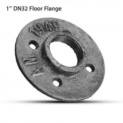 1 Inch DN32 Industrial Style Silver Cast Iron Steel Tube Pipe Floor Flens