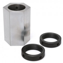 5-C Zeshoek Collet Block Hard Stalen Collet Block Lathe Tool Holder