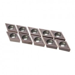 10pcs DCMT11T0304 VP15TF Cemented Carbide Inserts Voor Roestvrij Staal