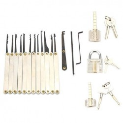 12st Unlocking Pick Pick Set Met 3st Transparante Sloten Slotmaker Practice Supplies Set