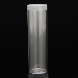 10 Stks / set 25mm Ronde Clear Plastic Coin Tube Munt Houder Container voor Kwart Dollar Opslag Buis Schroef