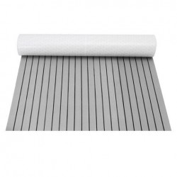 120x240cm Grey and Black EVA Foam Faux Teak Sheet Boat Yacht Synthetic Teak Decking Pad