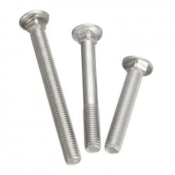 10Pcs M10 Roestvrij staal 304 Carriage Head Metric Bolts Schroeven 60/80 / 100mm