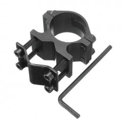 1 inch zaklamp Laser Scope Ring Mount Holder met 10-21mm Barrel Clamp Adapter