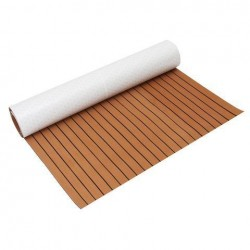 1200mmx2400mmx5mm EVA Foam Faux Teak Sheet Bootjacht Synthetisch Teak Decking Bruin
