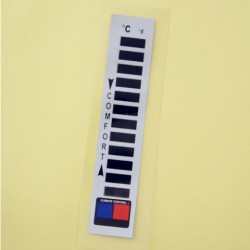 Liquid Crystal Color Change Digitale thermometer Liquid Crystal Clothing Thermometer Kledingmerk Warm Clothing Thermometer
