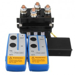 12V 500Amp HD Elektrische Capstan Contactor Winch Control Solenoid Twin Wireless Remote Recovery 4x4