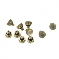 0.3mm Brass Misting Nozzles Water Mister Sprinkle Voor Koelsysteem 0.012 Inch 10/24 UNC