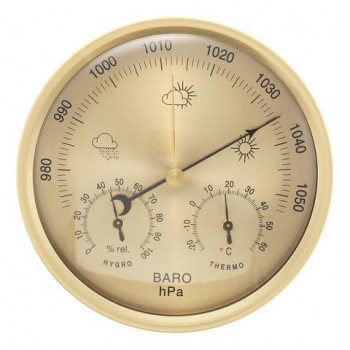 3 IN 1 Muur Opknoping Weer Thermometer Barometer Hygrometer Home Decor 132 MM