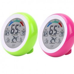 2 stks DANIU Groen + Rose Multifunctionele Digitale Thermometer Hygrometer Temperatuur-vochtigheidsmeter Touchscreen Multicolor Min Waarde Trend Display ℃ / ℉
