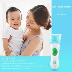 4 in 1 digitale oor thermometer volwassen baby infrarood lcd temperatuurtester