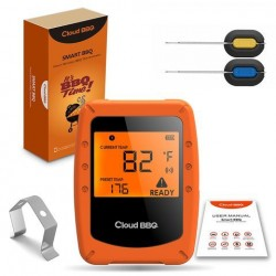 Draadloze Smart Vlees Thermometer 2 Sondes Bluetooth / WiFi voor IOS Android digitale thermometer