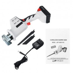 21V 4000mAh Lithium Battery Cordless Multifunction Reciprocating Saw Electric Saw For Wood Metal Cutting Saw