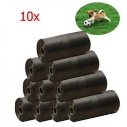 10 Roll Pet Dog Poo Bag Cat Afval Kak Pick Up Biologisch afbreekbare vuilniszakken Black