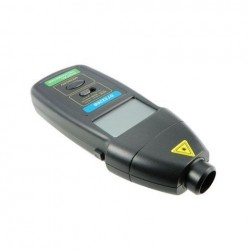 DT2236B 3-in-1 Handheld LCD Digitale toerenteller Contact / contactloze breed meetbereik snelheidsmeter