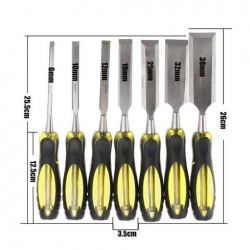 6-38mm 7st Houtbewerking Carving Beitels Houten Handle Tool Set