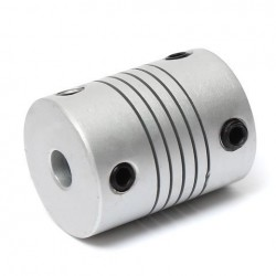 2pcs 5mm x 8mm Aluminum Flexible Shaft Coupling OD19mm x L25mm CNC Stepper Motor Coupler Connector