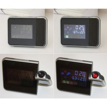 A84503 Projectie Digitale thermometer Snooze-wekker LCD-scherm Weerthermometer