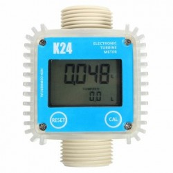K24 1inch Digital Turbine Diesel Fuel Flow Meter Gauge Teller voor Chemicals Water