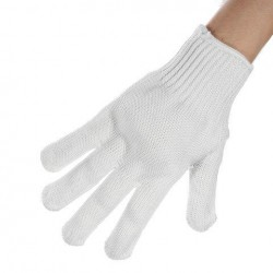 Snijbestendige Metal Anti-snijden Wire handschoenen Wearable Anti-glas Krassen White