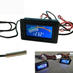 DC 5-25V Thermometer Temperatuur Digitale Display Meter Voor Computer Auto Water Celsius Meting + 1 M Probe Auto Thermometer
