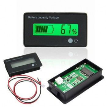 12V  8-70V LCD Acid Lead Lithium Battery Capacity Indicator Digital Voltmeter
