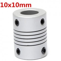 10mm x 10mm Aluminium Flexibele As Koppeling OD19mm x L25mm CNC Stepper Motor Coupler Connector