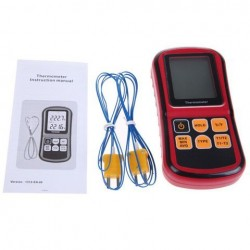 BENETECH GM1312 Digitale Thermometer Tweekanaals LCD Display Temperatuurmeter Tester voor K / J / T / E / R / S / N Thermokoppel