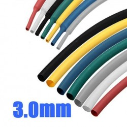 1/8 inch 1M 3.0MM 7Color 2: 1 Polyolefin Heat Shrink Tube Sleeving Wrap
